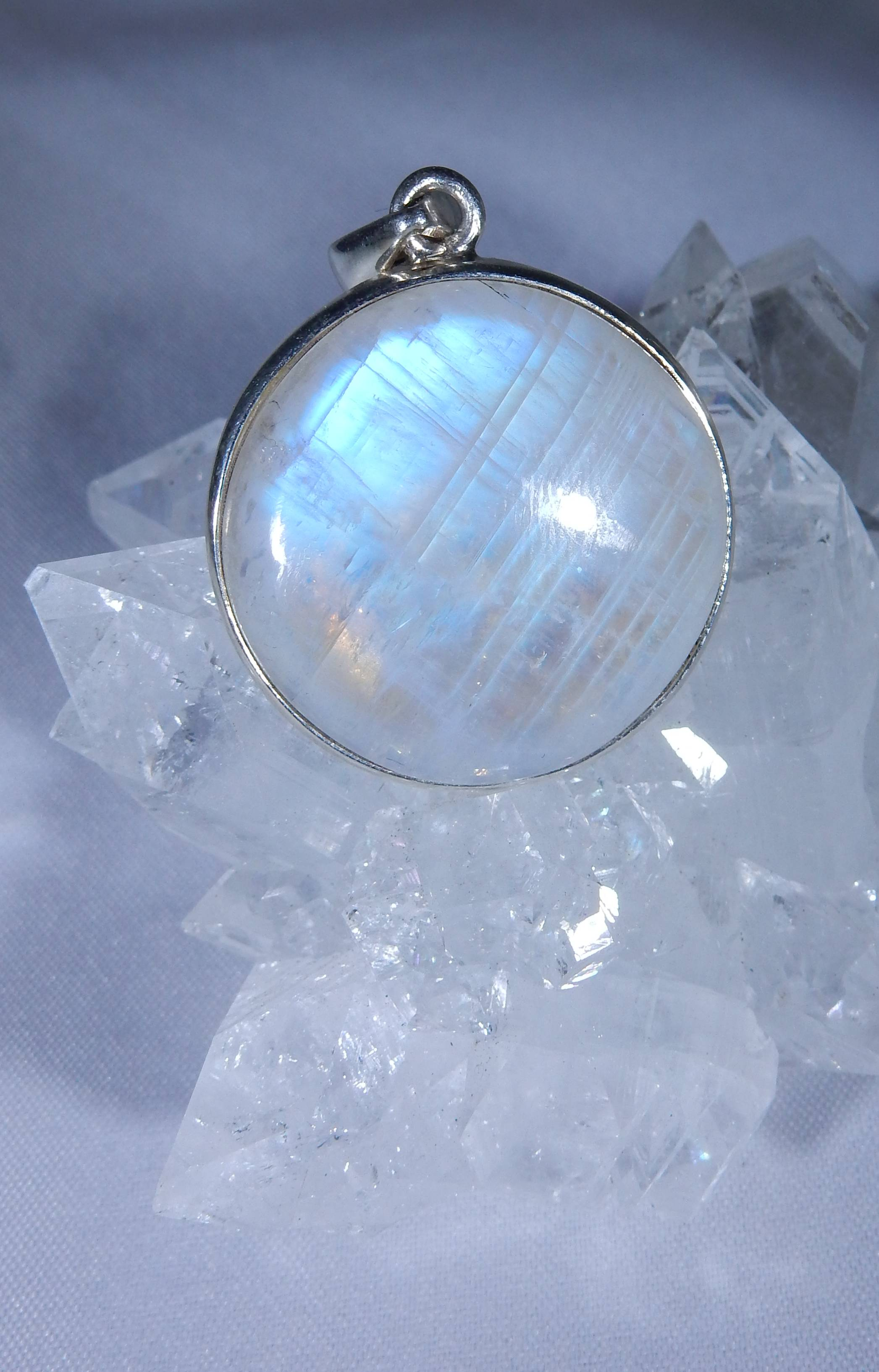 listing iridescent stone jewelry il necklace fullxfull rainbow infertility moon moonstone choker crystal raw fertility pendant
