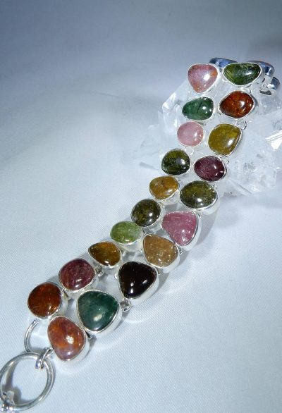Tourmaline, multi-color Bracelet
