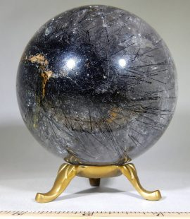 Tourmalined Quartz Sphere