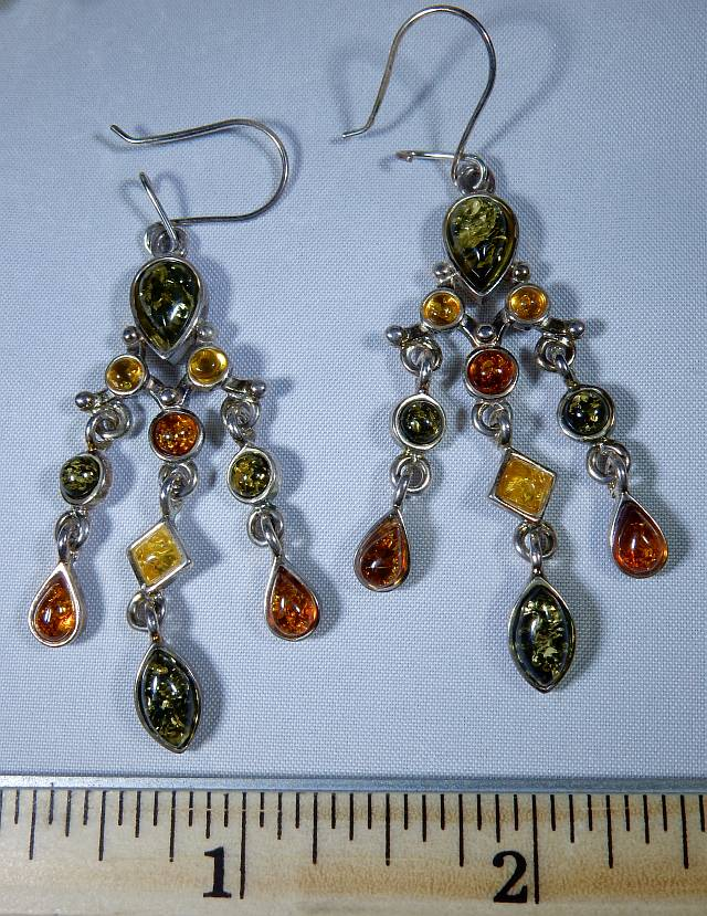 Amber chandelier earrings with green honey and golden amber in amber chandelier earrings with green honey and golden amber in sterling silver heaven nature store aloadofball Image collections